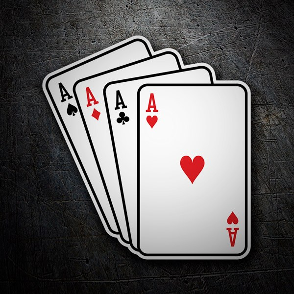 Autocollants: Poker d'As cartes