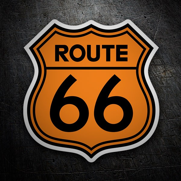 Autocollants: Route 66 orange