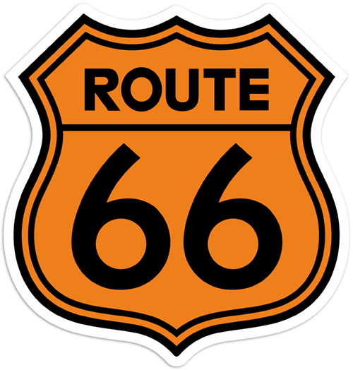 Autocollants: Route 66 3