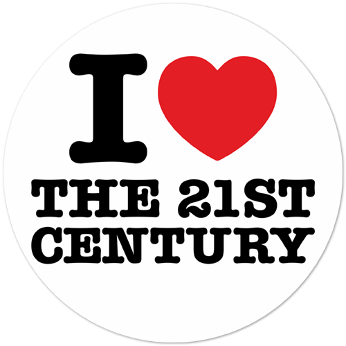 Autocollants: I love 21st Century