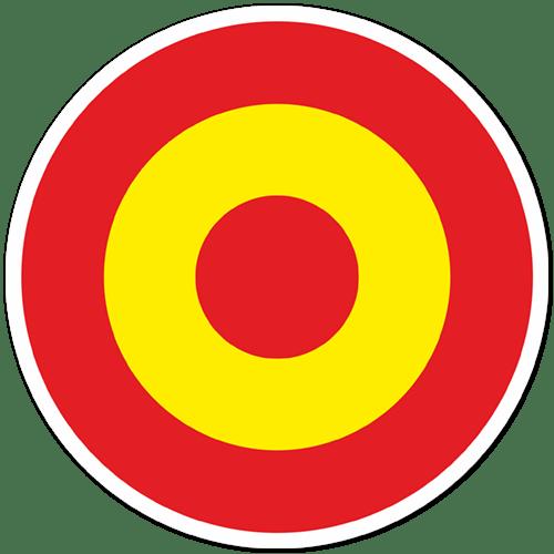 Autocollants: Cercle drapeau de l Espagne