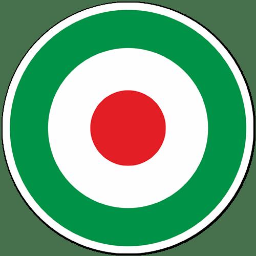 Autocollants: Italie Cercle Drapeau