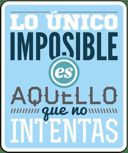 Autocollants: Lo único imposible...