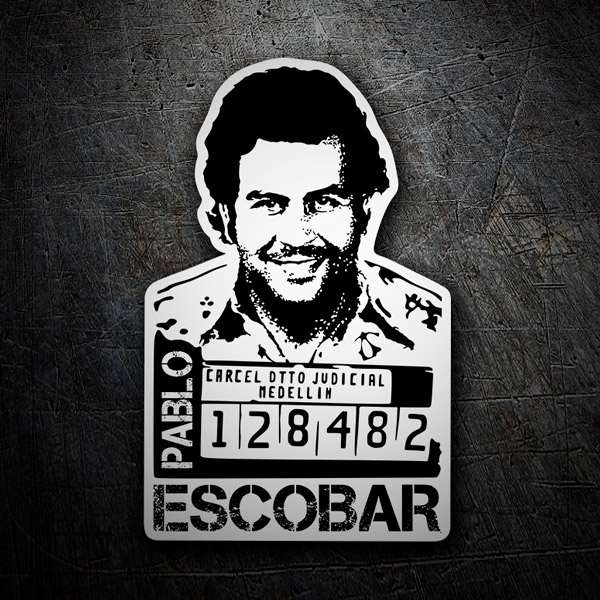 Stickers muraux: Photo Pablo Escobar