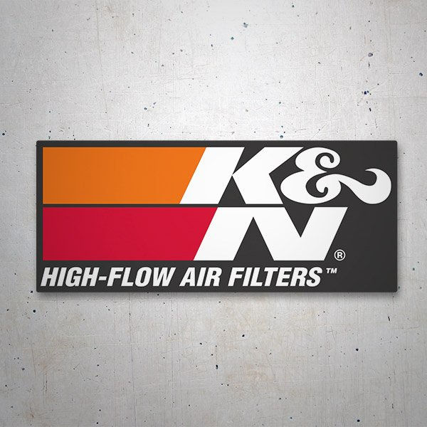Autocollants: K&N High-Flow Air Filters 2