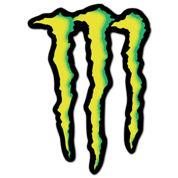 Autocollants: Logo de Monster Energy
