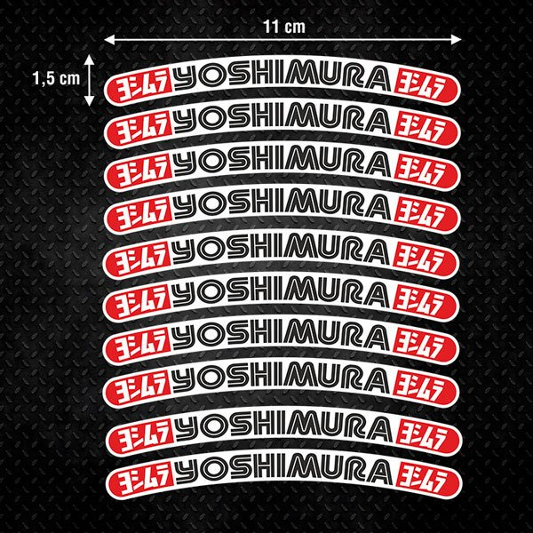 Autocollants: 10 Stickers jantes kit Yoshimura