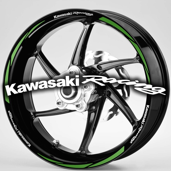 Autocollants: Kit liseret jante MotoGP Kawasaki Racing