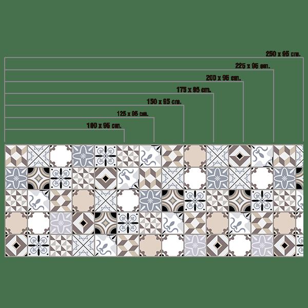 Stickers Sol Carrelage Tuiles de Forme Géométrique