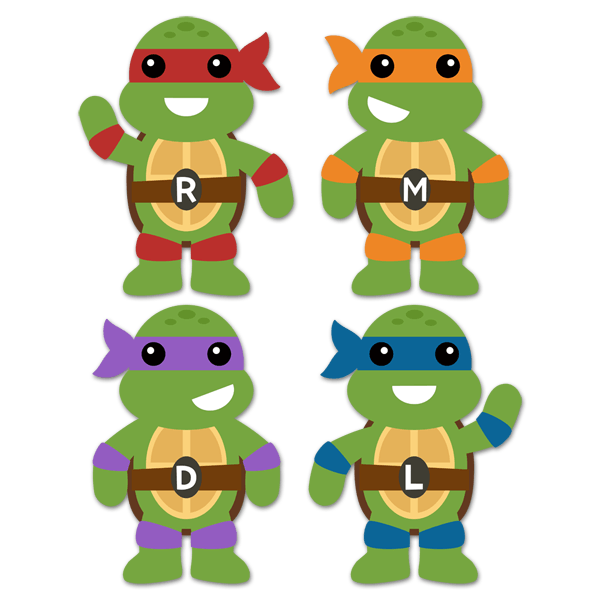 Stickers pour enfants: Kit Tortues Ninja 0
