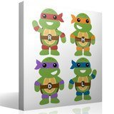 Stickers pour enfants: Kit Tortues Ninja 4