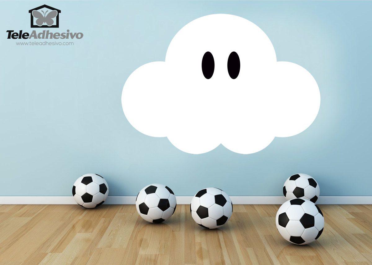 Stickers pour enfants super mario nuage