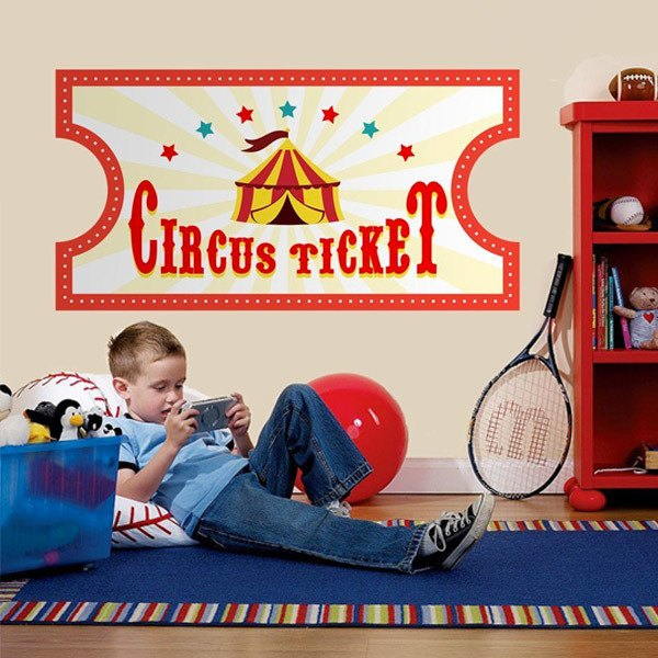 Stickers pour enfants: Circus Ticket