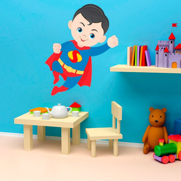 Stickers pour enfants: Superman volant