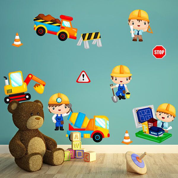 Stickers pour enfants: Kit de construction