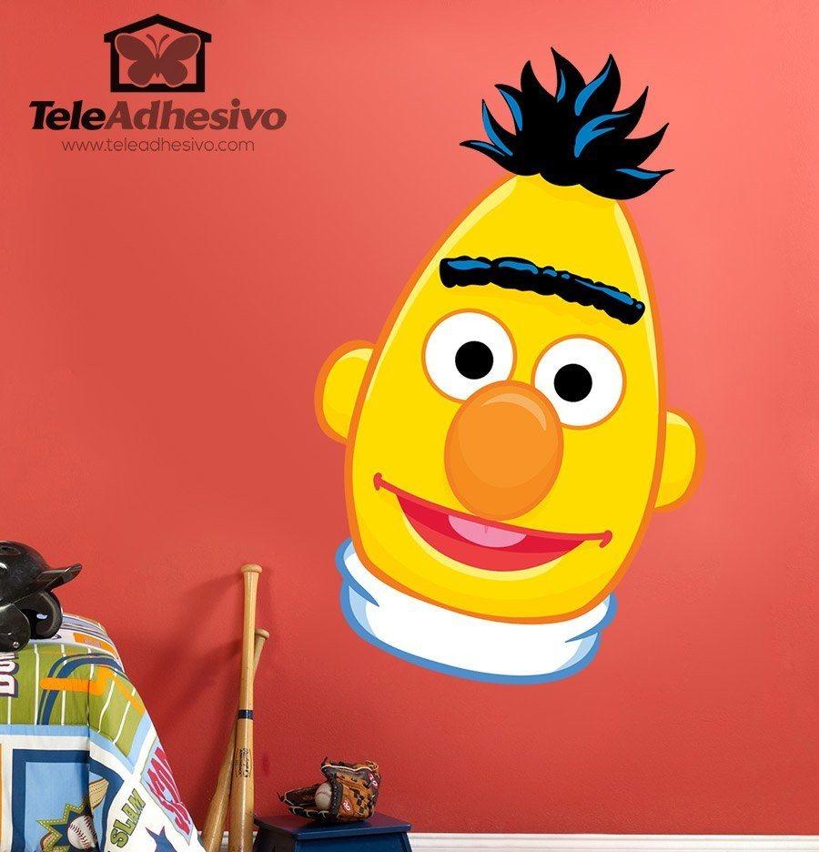 Top 50 Muppets Loc 80: Sticker Mural Enfant Visage Bert