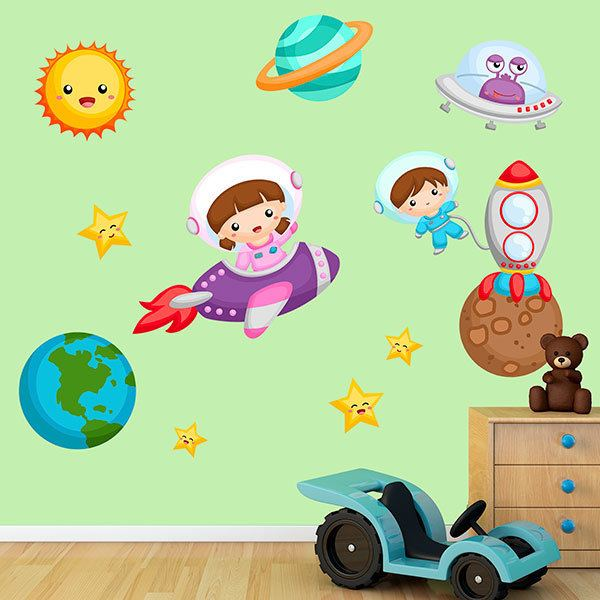 Stickers pour enfants: Kit d'exploration de l'univers