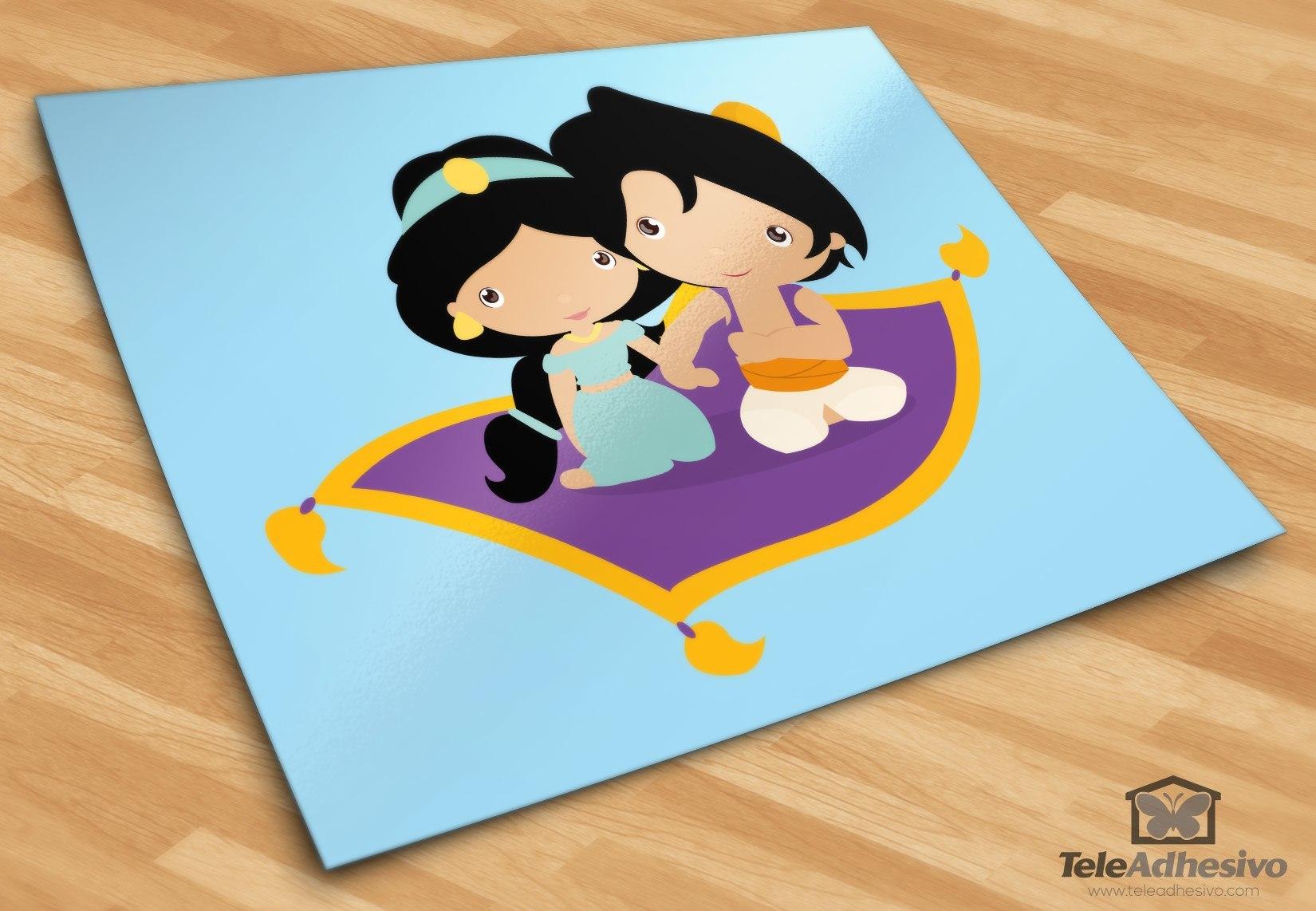 Choix Taille//couleur Stickers Mural Aladdin et Jasmine Amoureux