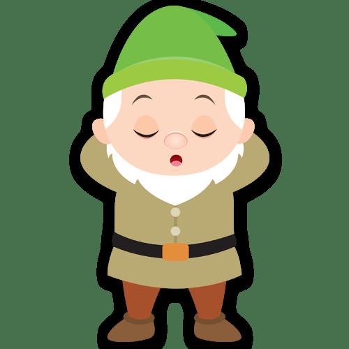 Stickers pour enfants: Nain Dormeur