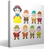 Stickers pour enfants: Kit Blanche-Neige et les Sept Nains 4