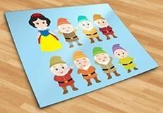Stickers pour enfants: Kit Blanche-Neige et les Sept Nains 5