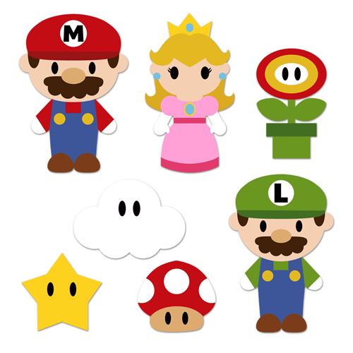 Stickers pour enfants: Kit Mario Bros
