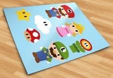 Stickers pour enfants: Kit Mario Bros 5