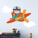 Stickers pour enfants: Avion dans les nuages 3