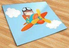 Stickers pour enfants: Avion dans les nuages 5