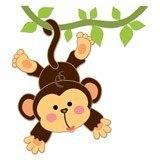 Stickers pour enfants: Singe pendaison sur la vigne 6