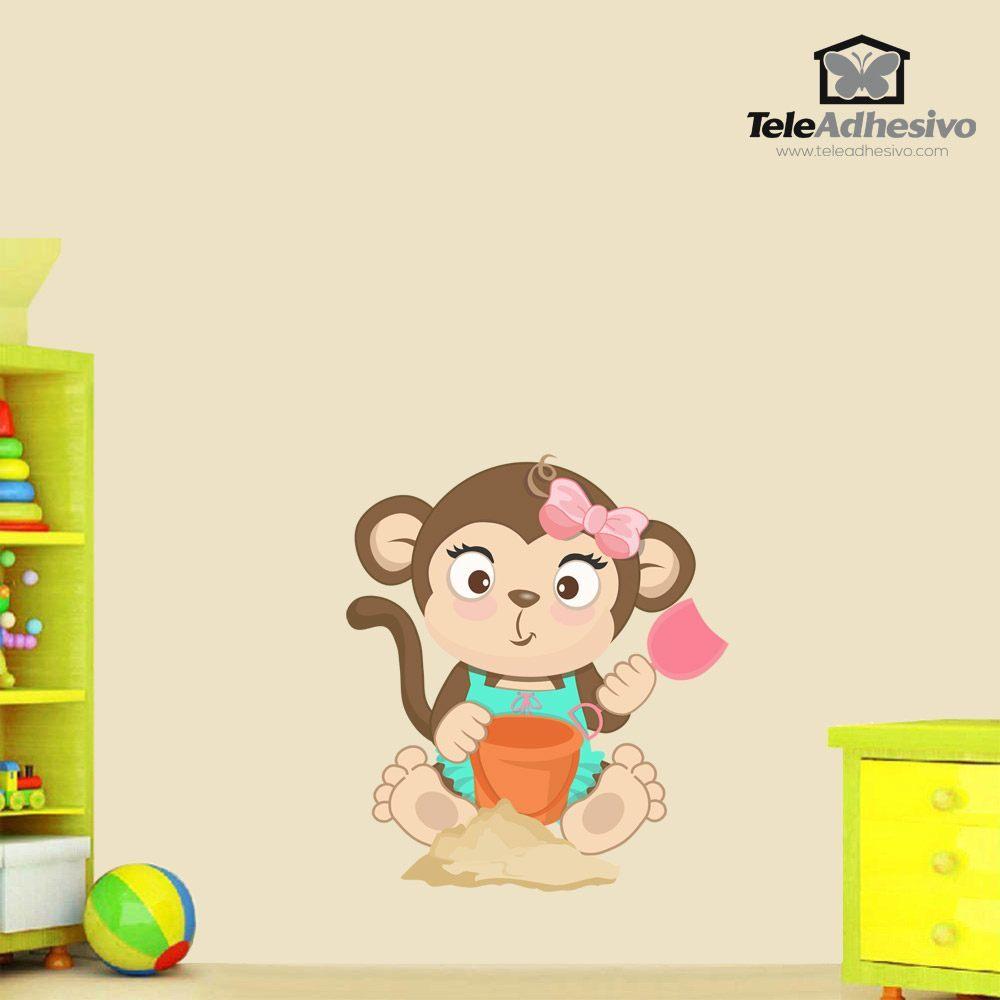 Stickers pour enfants: Jeu de singe dans le sable