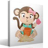 Stickers pour enfants: Jeu de singe dans le sable 4