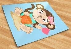 Stickers pour enfants: Jeu de singe dans le sable 5