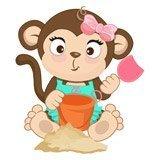 Stickers pour enfants: Jeu de singe dans le sable 6