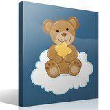 Stickers pour enfants: Ours avec étoiles assis sur le nuage 4