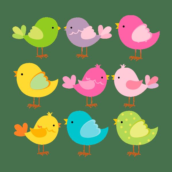 Stickers pour enfants: Oiseaux couleur Kit