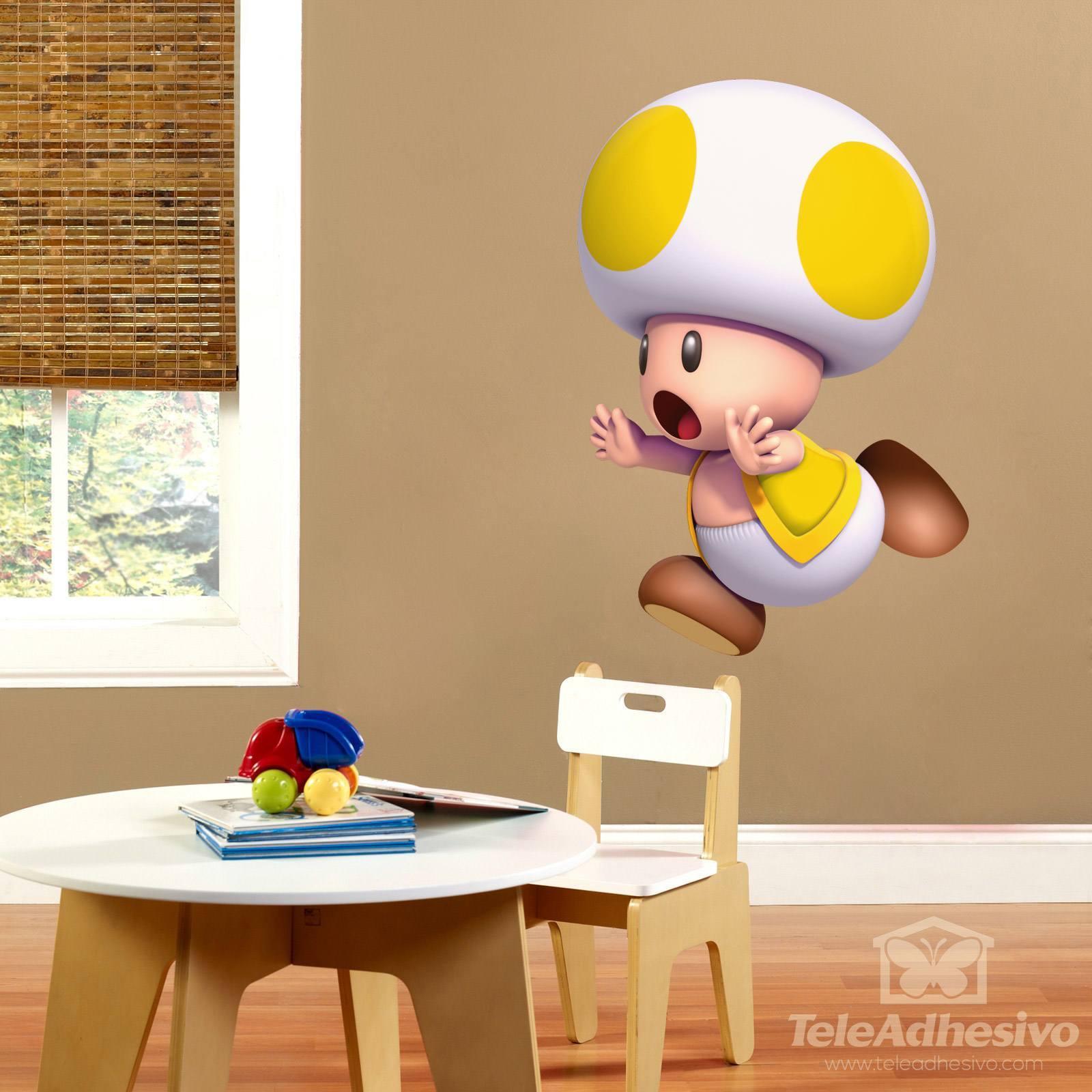 Stickers pour enfants: Toad jaune