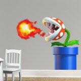 Stickers pour enfants: Usine de Piranha crache du feu 3