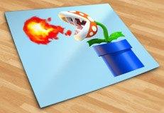 Stickers pour enfants: Usine de Piranha crache du feu 5