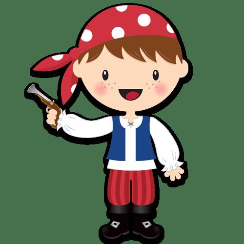 Stickers pour enfants: La petite pistolet de corsaire