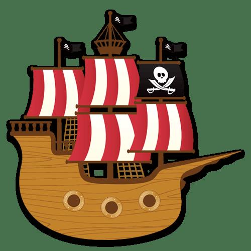 Stickers pour enfants: Petit bateau de pirate