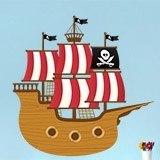 Stickers pour enfants: Petit bateau de pirate 3