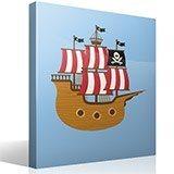 Stickers pour enfants: Petit bateau de pirate 4