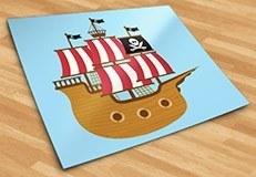 Stickers pour enfants: Petit bateau de pirate 5