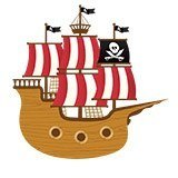 Stickers pour enfants: Petit bateau de pirate 6