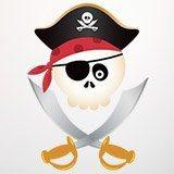 Stickers pour enfants: Le crâne de pirate pour enfants 3
