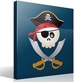 Stickers pour enfants: Le crâne de pirate pour enfants 4