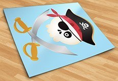 Stickers pour enfants: Le crâne de pirate pour enfants 5