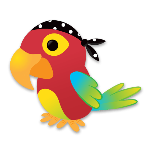 Stickers pour enfants: perroquet pirate