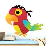 Stickers pour enfants: perroquet pirate 3